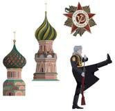 Símbolos do russo Fotos de Stock Royalty Free