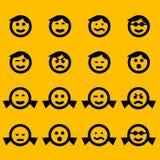 Símbolos do smiley Foto de Stock