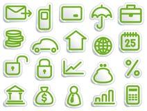 Símbolos financeiros Imagens de Stock