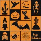 Símbolos para Halloween Fotos de archivo