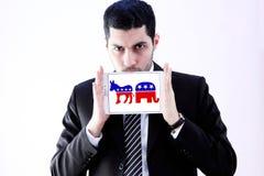 Símbolos políticos da eleição dos EUA Foto de Stock Royalty Free