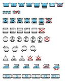 Símbolos que se lavan/vector Foto de archivo libre de regalías
