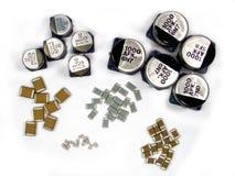 SMD capacitors stock photo