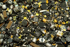 SMD-componenten Stock Foto's