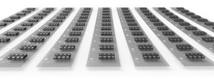 SMD electronic components Royalty Free Stock Photography