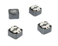Smd inductance. Surface mount, electronics and computer component,  isolated Royalty Free Stock Images