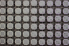 SMD integrated circuits. On tray - macro small DOF Royalty Free Stock Photo