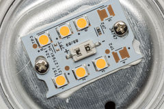 SMD LED sul PWB del circuito stampato dell'alluminio Immagine Stock Libera da Diritti
