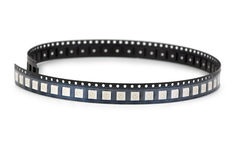 SMD LEDs in the plastic ribbon Royalty Free Stock Image