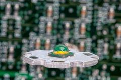 Smd potente LED en el circuito de aluminio de la estrella fotografía de archivo libre de regalías