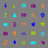SME color icons on gray background Stock Photography