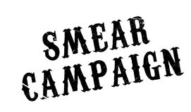 Smear Campaign rubber stamp Stock Photo