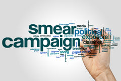Smear campaign word cloud Stock Photos