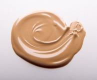 Smear cream isolated on white background. Royalty Free Stock Image