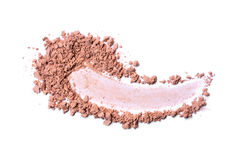 Smear of crushed beige face powder royalty free stock photos