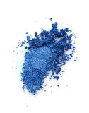 Smear of crushed blue eyeshadow Royalty Free Stock Images