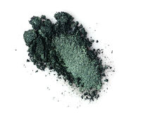 Smear of crushed green eyeshadow stock photos