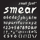 Smear hand painted font Stock Photography