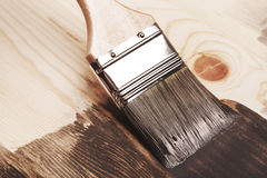Smear of paint brush Stock Photography