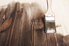 Smear of paint brush Royalty Free Stock Image