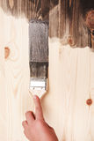 Smear of paint brush Royalty Free Stock Photos