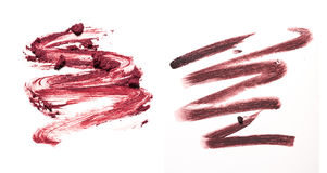 Smear paint of cosmetic and beauty products Stock Images
