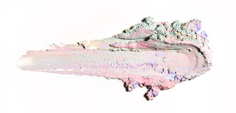 Smear paint of cosmetic and beauty products Royalty Free Stock Photos