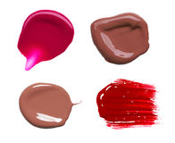 Smear paint of cosmetic products Stock Photo