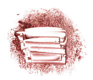 Smear paint of cosmetic products Stock Photos