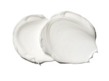 Smear paint of white cosmetic products Stock Photo