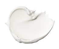 Smear paint of white cosmetic products Stock Image
