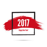 Smear a watercolor painting. Creative happy new year 2017 design  theme. Vector Stock Photos