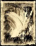 Smeared Film Emulsion. Vintage smeared film emulsion with torn border royalty free stock image