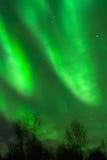 Smeared green aurora Stock Image