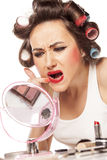 Smeared makeup Royalty Free Stock Photography
