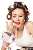 Smeared makeup Stock Photos