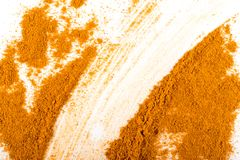 Smeared Mixture of Indian Spices and Herbs Powders Texture royalty free stock image
