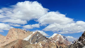 Smearing clouds in mountains. Time Lapse. Pamir, stock video footage
