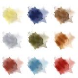 Smears brush paint, set Stock Images