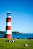 Smeaton's Light Tower, Plymouth (portrait mode) Stock Images