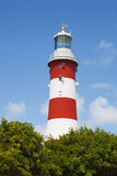 Smeaton's Tower is the third and most notable Eddystone Lighthouse. Plymouth Devon Royalty Free Stock Photos