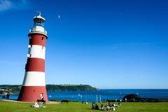 Smeatons ljusa torn, Plymouth Fotografering för Bildbyråer