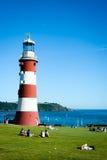 Smeatons ljusa torn, Plymouth (det stående funktionsläget) Arkivbilder