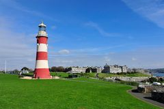 Smeatons tower. Smeatons tower in Plymouth, Devon, UK Royalty Free Stock Image
