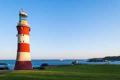 Smeatons Tower Lighthouse on Plymouth Hoe in the city of Plymout. One of the best known landmarks in Plymouth; Smeatons Tower Royalty Free Stock Images