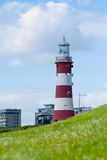 Smeatons Tower lighthouse on Plymouth Hoe Royalty Free Stock Photo