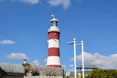 Smeatons Tower lighthouse on Plymouth Hoe Royalty Free Stock Images
