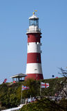 Smeatons Tower, Plymouth Hoe UK. This lighthouse is situated on the  Hoe, Plymouth UK, where Drake played bowls whilst waiting for the Spanish Armada to appear Royalty Free Stock Photo