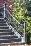Smeedijzertraliewerk op Roger Williams Park-voetgangersbrug Stock Afbeeldingen