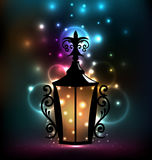 Smeedstuklantaarn voor Ramadan Kareem Royalty-vrije Stock Afbeeldingen